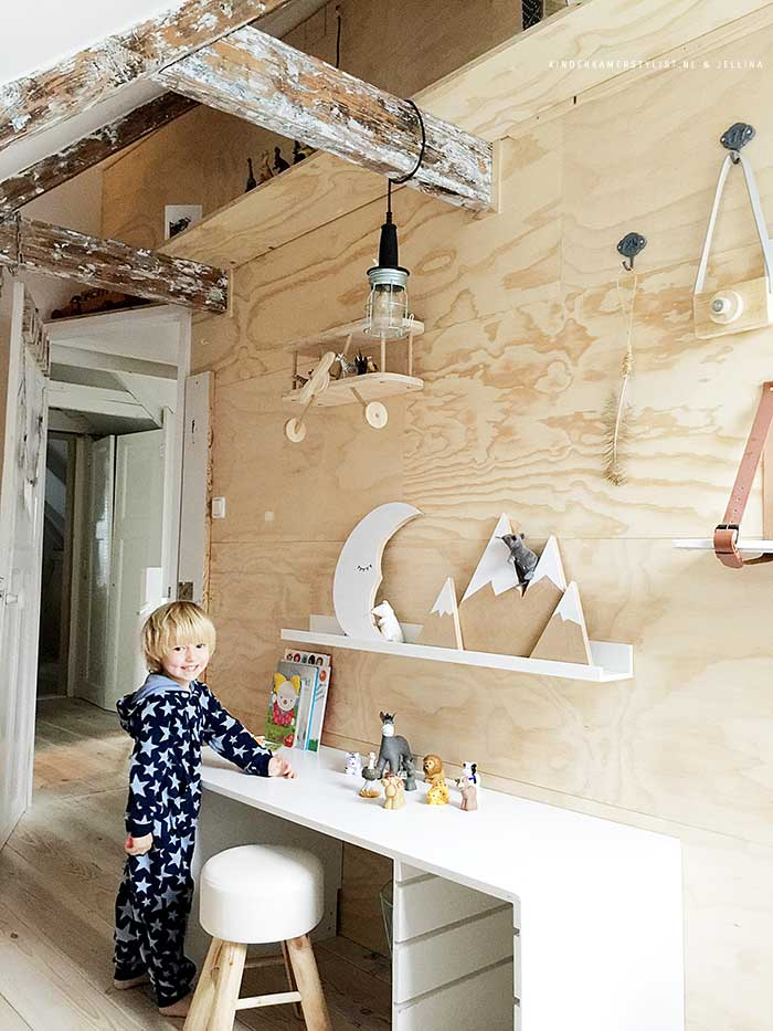 Stoere jongenskamer ideeen kinderkamerstylist for Bed in de muur