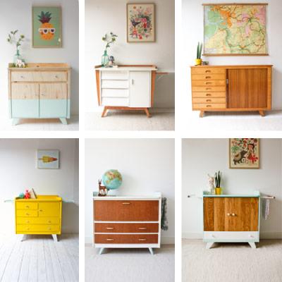 Meubels kinderkamerstylist for Vintage meubels