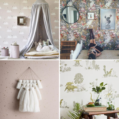 Behang Zwart Wit Babykamer.Kinderkamer Behang Kinderkamerstylist