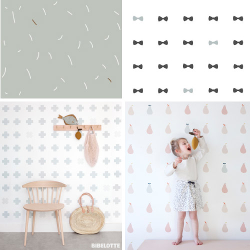 Meisjes Behang Pastel.Kinderkamer Behang Kinderkamerstylist