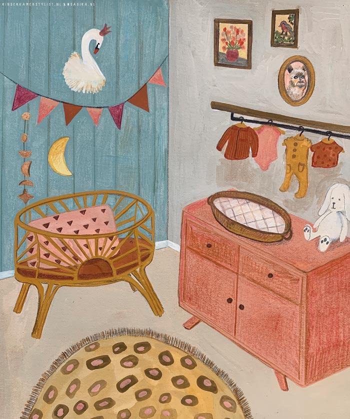 Babykamer schilderij