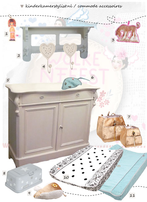 Babykamer commode-accessoires