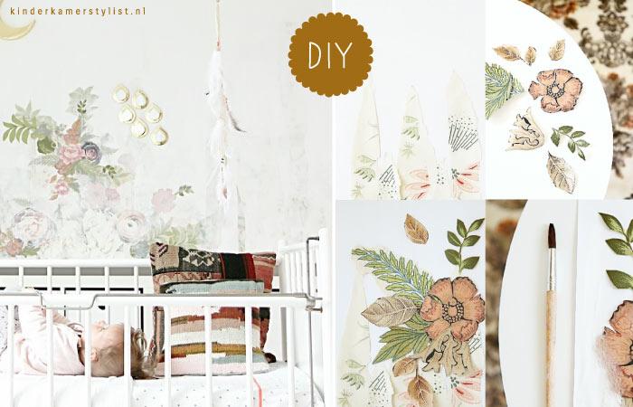Picture idea 11 : Zelf behang maken meidenkamer kinderkamerstylist