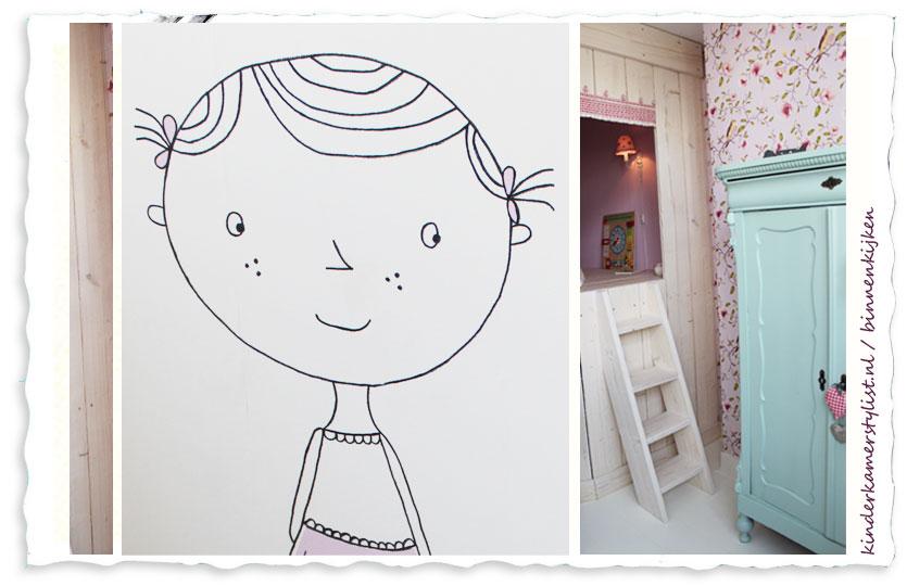 Kinderkamer Brocante Kinderkamer Inrichten : Kinderkamer meisje ...