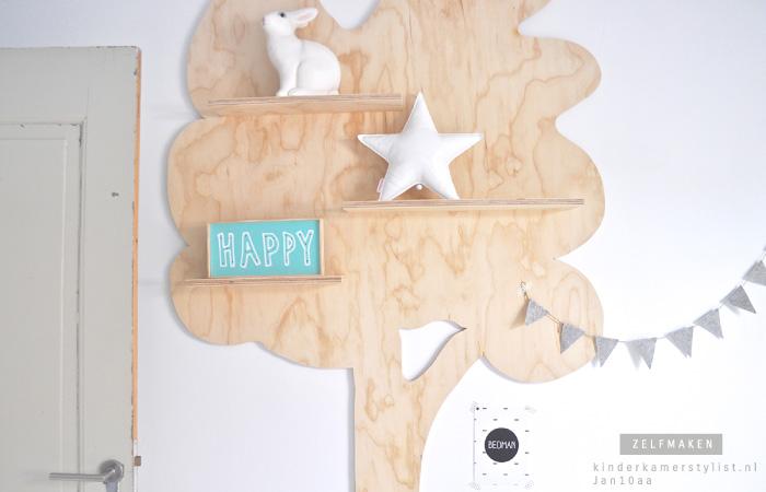 Zelfmaken kinderkamerstylist - Een houten boom maken ...