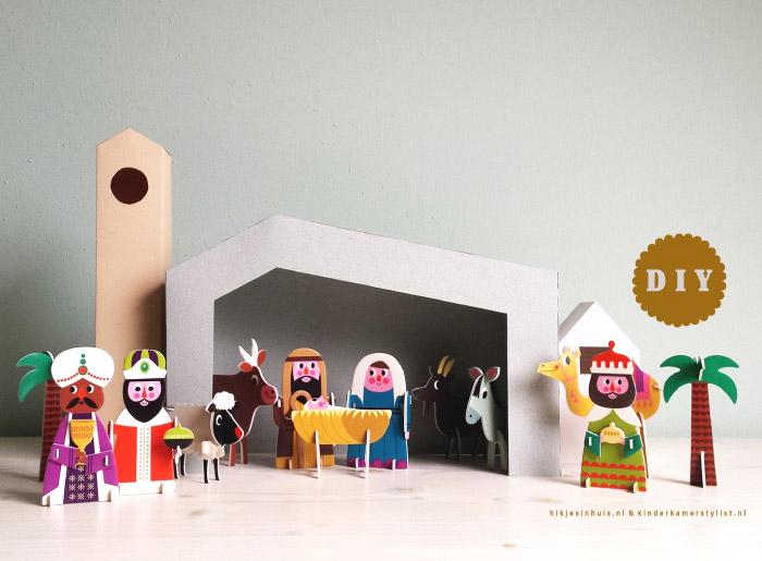 Kinderkamer Gordijnen Sterren : DIY Kerststal kinderkamer ...