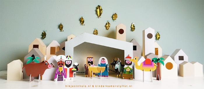 Cheap diy kerststal maken kerstdorp download with for Tuinposters intratuin