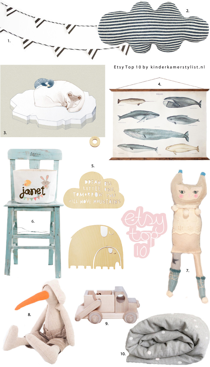 Etsy top 10 by Kinderkamerstylist