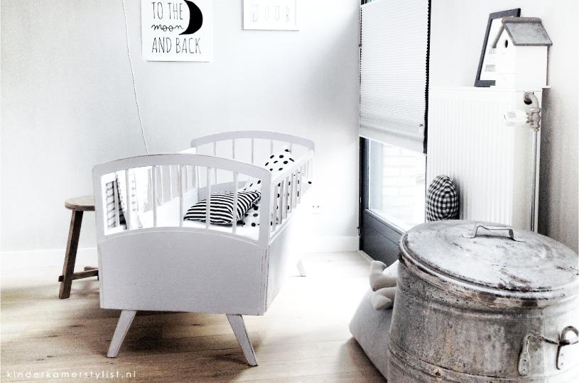 Babykamer kinderkamer en babykamer inspiratie for Chambre fille noir et blanc