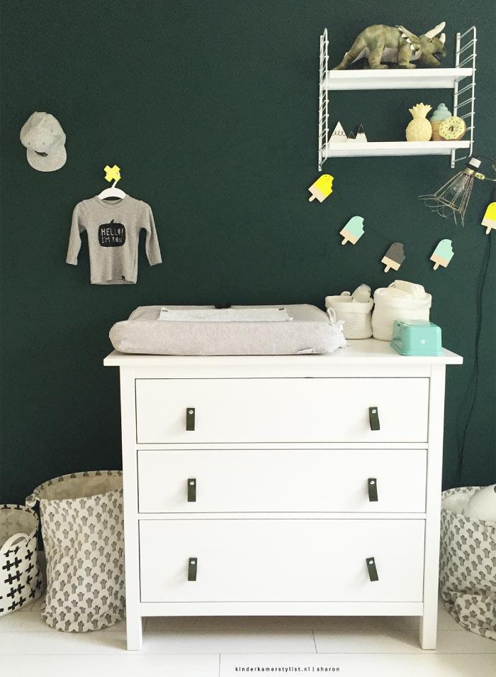 Groene babykamer for Babykamer deco
