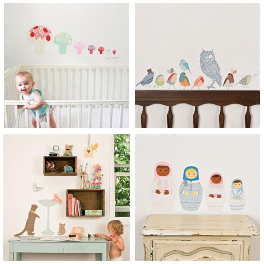 Muurstickers Babykamer Zwart  muursticker uiltje knappen muurstickers  Ikea slaapkamer kleed
