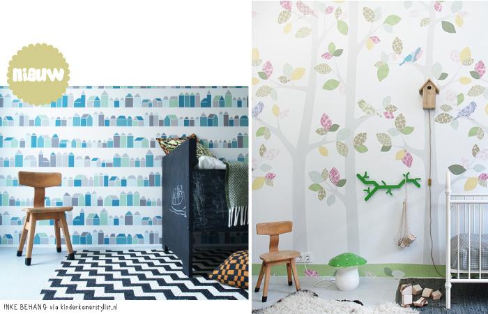 Behang Kinderkamer Scandinavisch : Behang ideeën voor de babykamer ...
