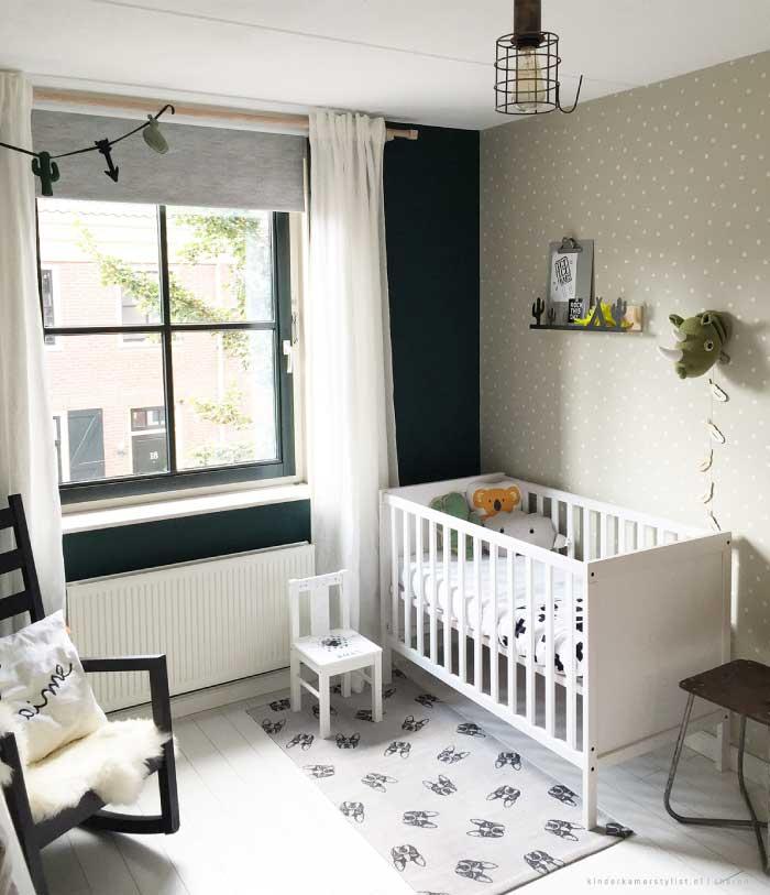 Babykamer Groen Blauw.Babykamers Kinderkamerstylist