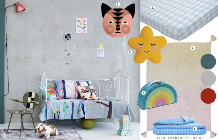 Kleurrijk kinderkamerstylist - Kamer kleur idee ...