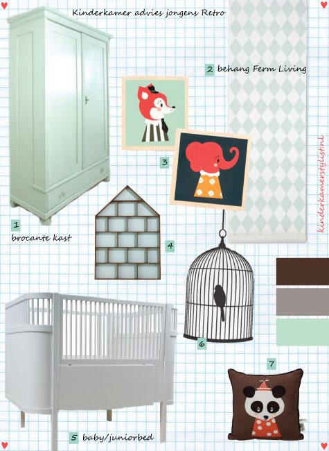 Kinderkamer idee n retro modern kinderkamerstylist - Idee deco slaapkamer jongen jaar ...