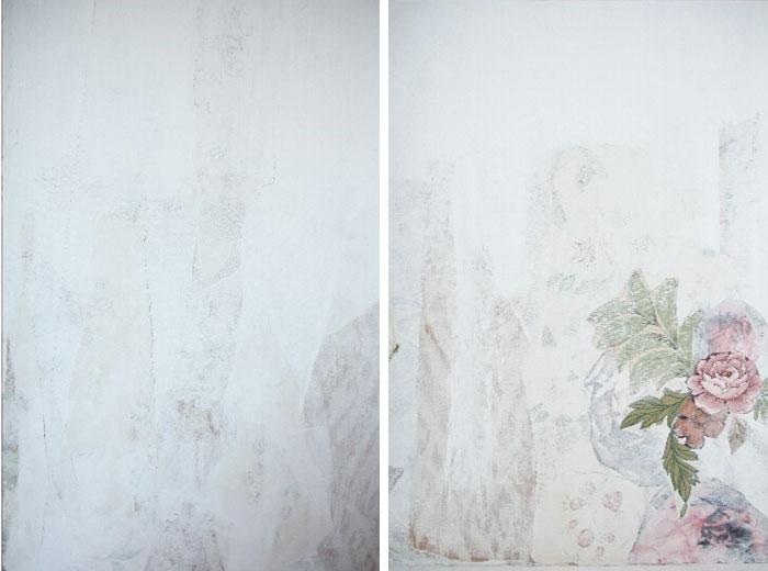 Gestucte muur behangen beautiful de eerste baan behangen for Renovlies zelf aanbrengen