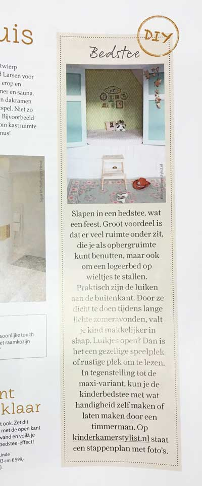 Kinderkamerstylist.nl in de Ariadne at home 2016