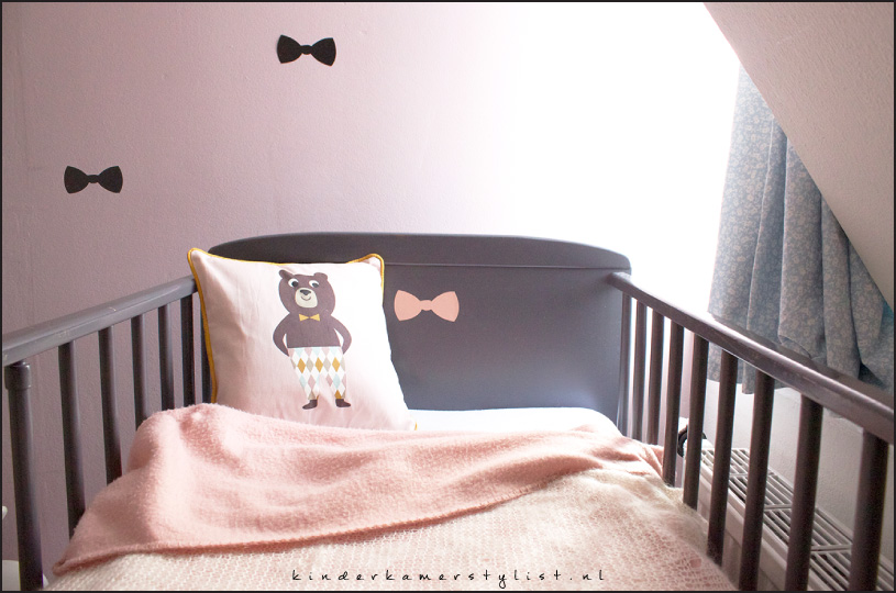 Portfolio kinderkamerstylist - Zwart meisjes kamer en witte ...