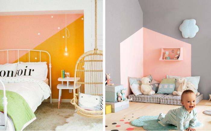 Taupe Muur Woonkamer : Vlakken op muur schilderen kinderkamerstylist