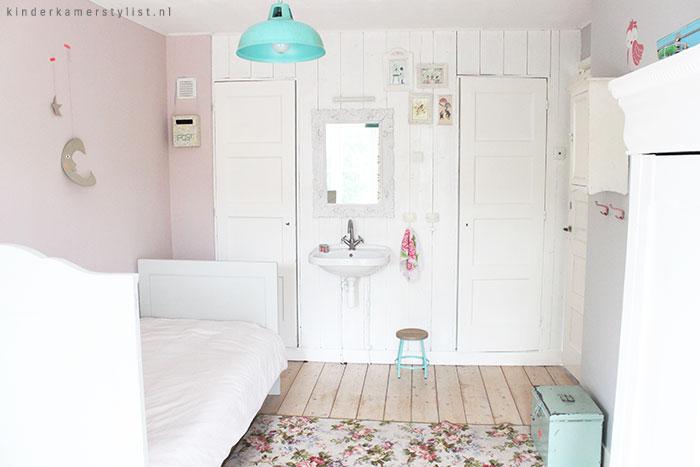Landelijke kinderkamer kinderkamer en babykamer inspiratie - Kleur van slaapkamer meisje ...