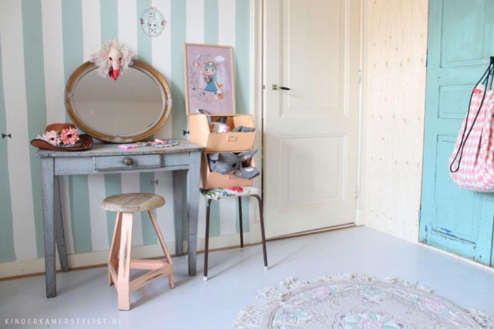 Kamer inrichten op schaal mooi meiden slaapkamer idee
