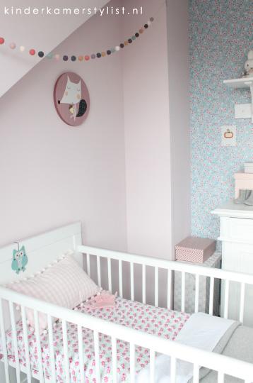 babykamer gordijnen verduisterend of niet: meisjeskamer evelien, Deco ideeën