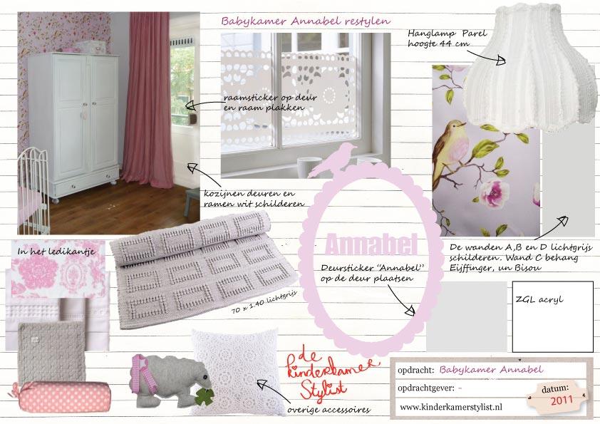 Restyling babykamer meisje annabel kinderkamer en babykamer inspiratie - Kleur van slaapkamer meisje ...