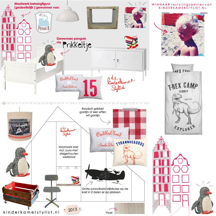 Auto Slaapkamer Accessoires : Maatwerk behang huisjes van Perron 11 Penguin van Prikkeltje