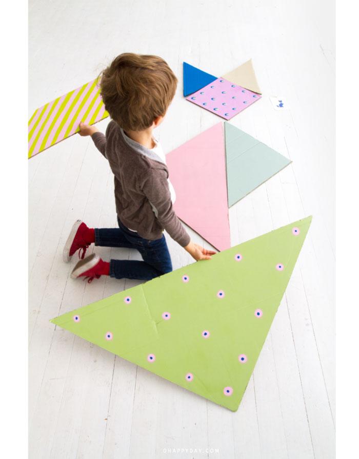 Stunning tangram maken kinderkamer with wereldkaart op for Intratuin emmen