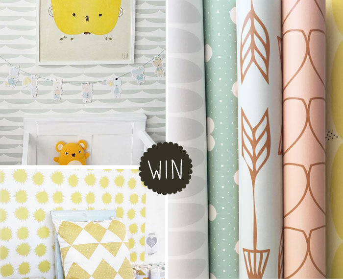 WIN roomblush kinderkamer behang via Kinderkamerstylist.nl  - Behang Deur