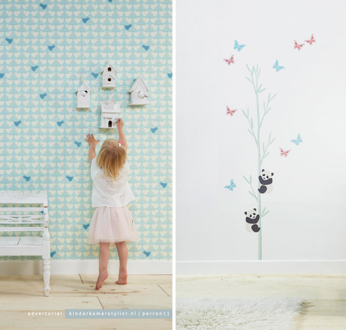 Vogeltjes Behang Lief.Behang Kinderkamerstylist