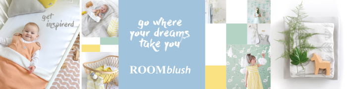 Roomblush babykamer behang
