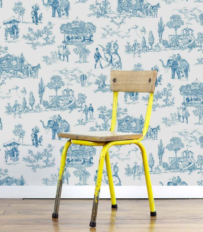 Toile de jouy kinderkamer behang