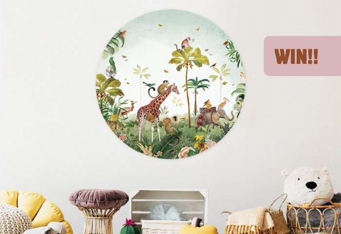 Win Jungle Parade Muursticker
