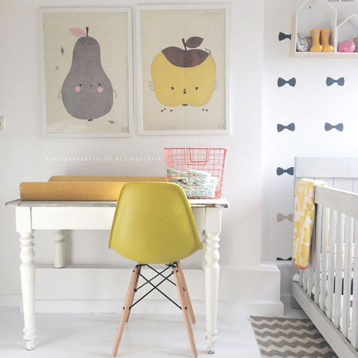 Babykamer muurdecoratie ideeen kleur idee n voor de babykamer kinderkamer kinderkamerstylist - Kleuridee voor een kamer ...