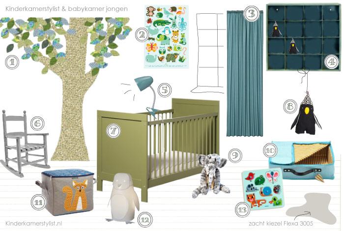 Jongenskamer idee kinderkamerstylist - Idee voor babykamer ...