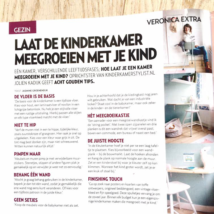 kinderkamerstylist in Veronica Magazine