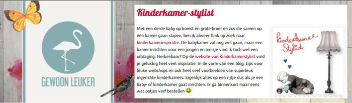 kinderkamerstylist.nl in de media