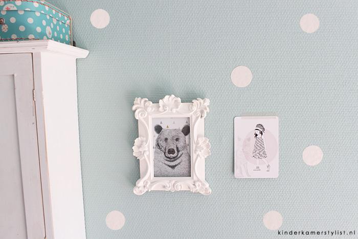 Muurdecoratie babykamer  Muursticker stippen leverbaar in kleur naar ...