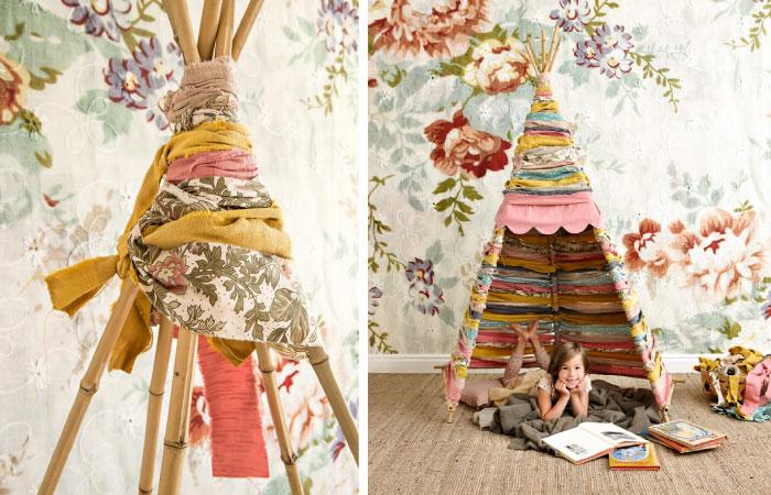 Tipi maken kinderkamerstylist for Kinderkamer versiering
