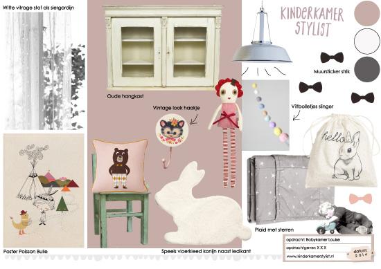 Kinderkamer Stylist : voorbeeld moodboard babykamer styling door ...