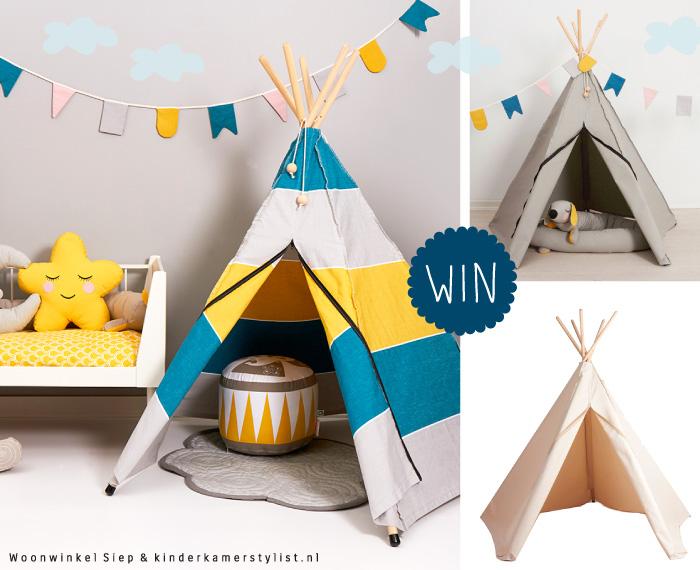 Tipi Tent Kinderkamer : Win een speeltent van woonwinkel siep kinderkamerstylist